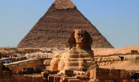 Die Pyramiden von Gizeh. Eines der sieben Weltwunder der antiken Welt