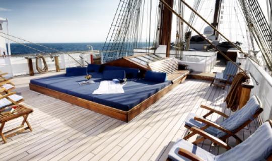 Genießen Sie die Ruhe an Deck