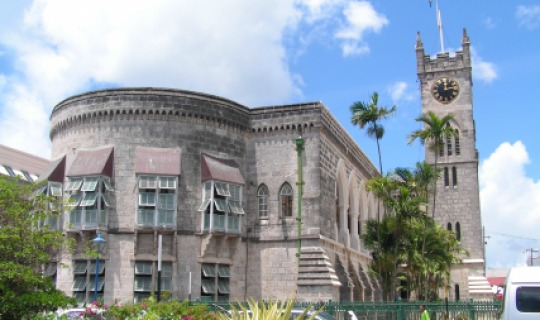 Das Parlamentsgebäude in Bridgetown