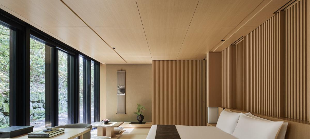 Zeitgenössisches Design als Hommage an die tradionellen japanischen Gasthäuser