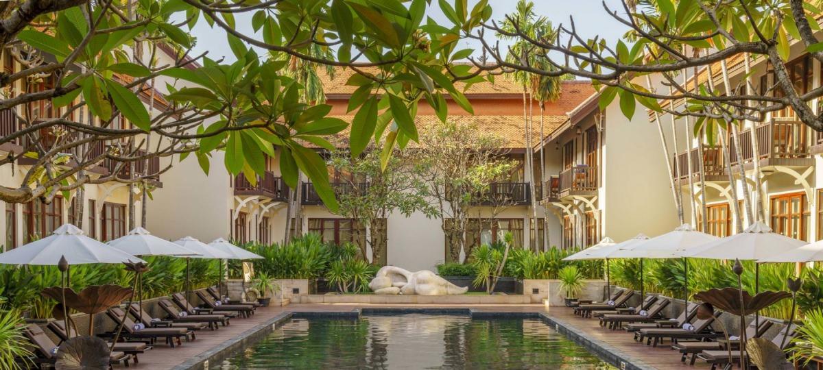 Poolbereich des Anantara Angkor