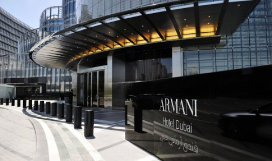 Herzlich Willkommen im Armani Hotel Dubai