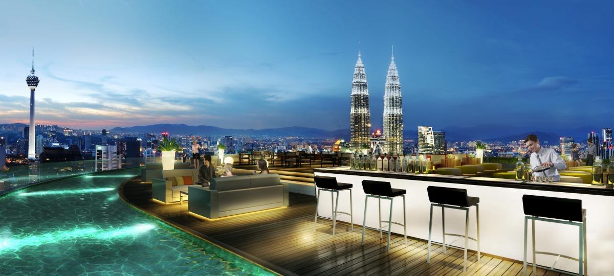 Gigantische Aussicht über Kuala Lumpur in der Sky Bar genießen
