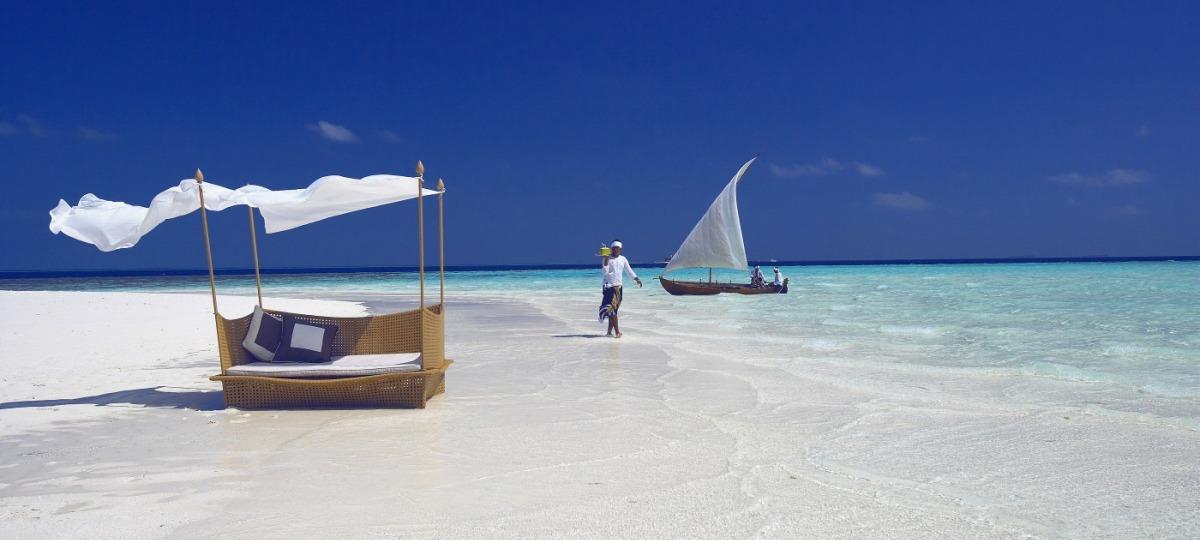 Entspannen Sie im Indischen Ozean