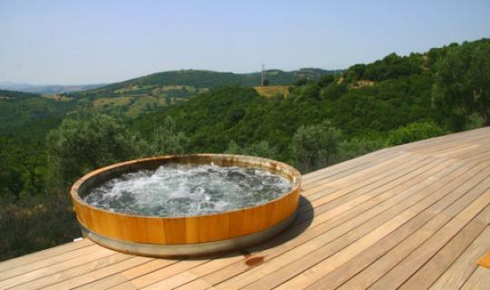 Entspannen Sie im Whirlpool