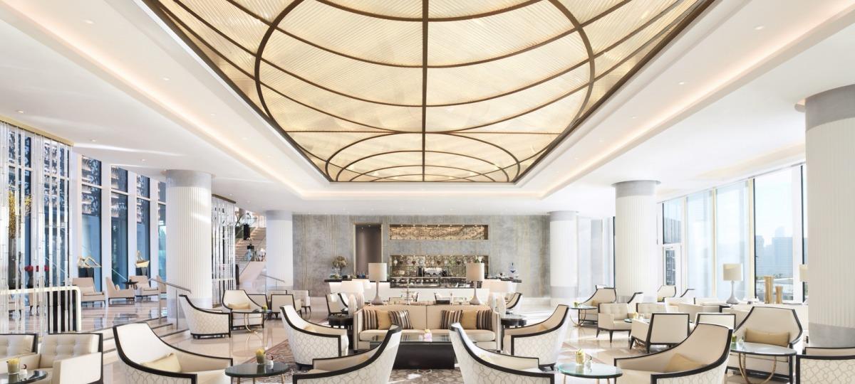 Die gemütliche Lounge des Four Seasen Abu Dhabi