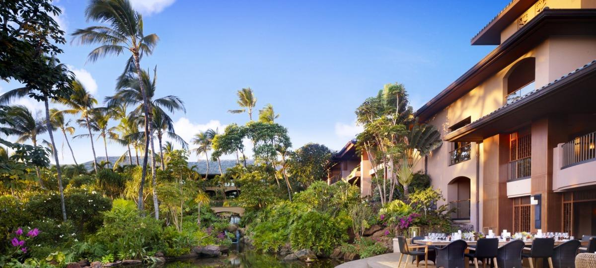 Genießen Sie die paradisische Gartenanlage
