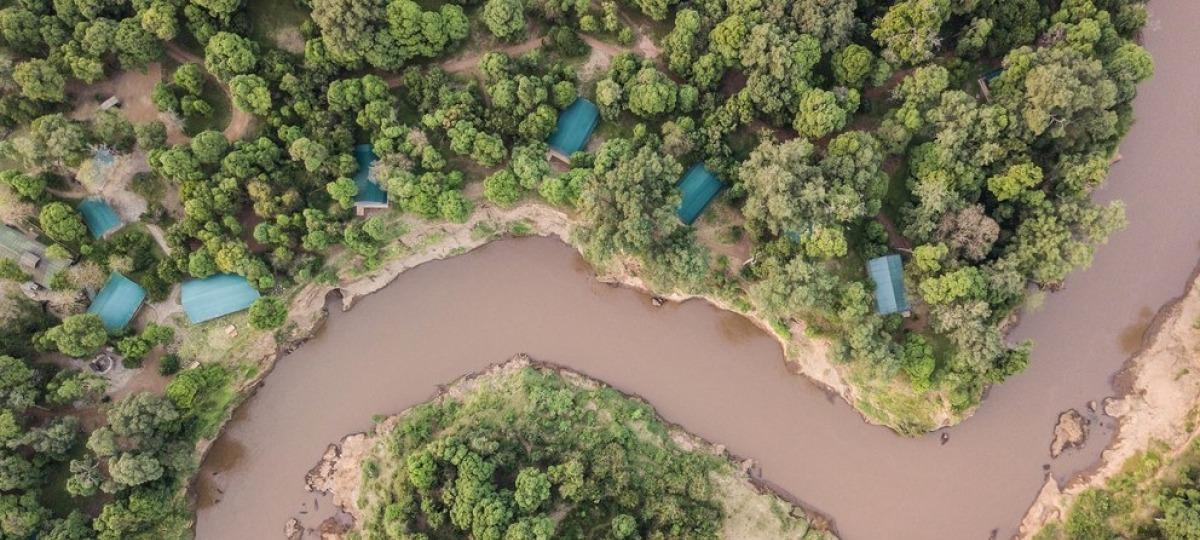 Das Il Moran Camp liegt direkt am Masa River