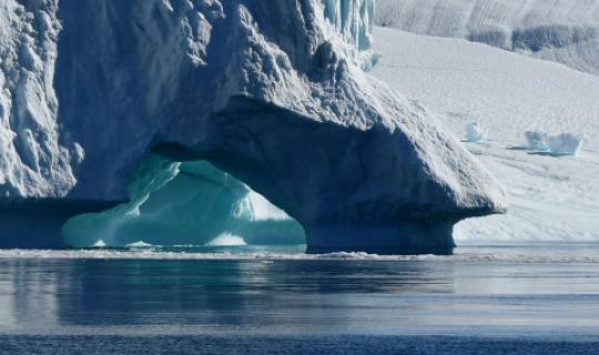 Betörend blaues Eis
