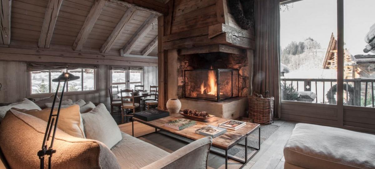 Knisterndes Kaminfeuer und ein Blick auf die Alpen - was gibt es Schöneres?