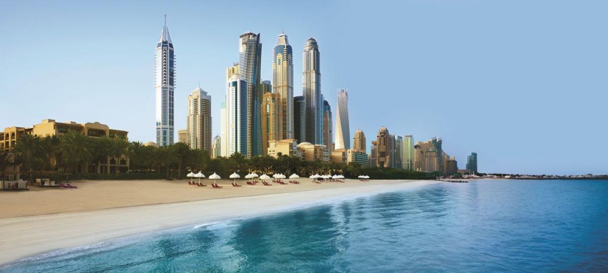 Ein atemberaubender Anblick auf Dubais Skyline