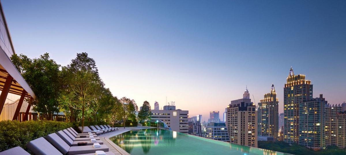 Eine Oase der Ruhe über Bangkok