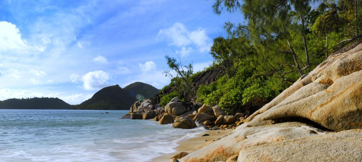 Traumhafte Bucht des Resorts