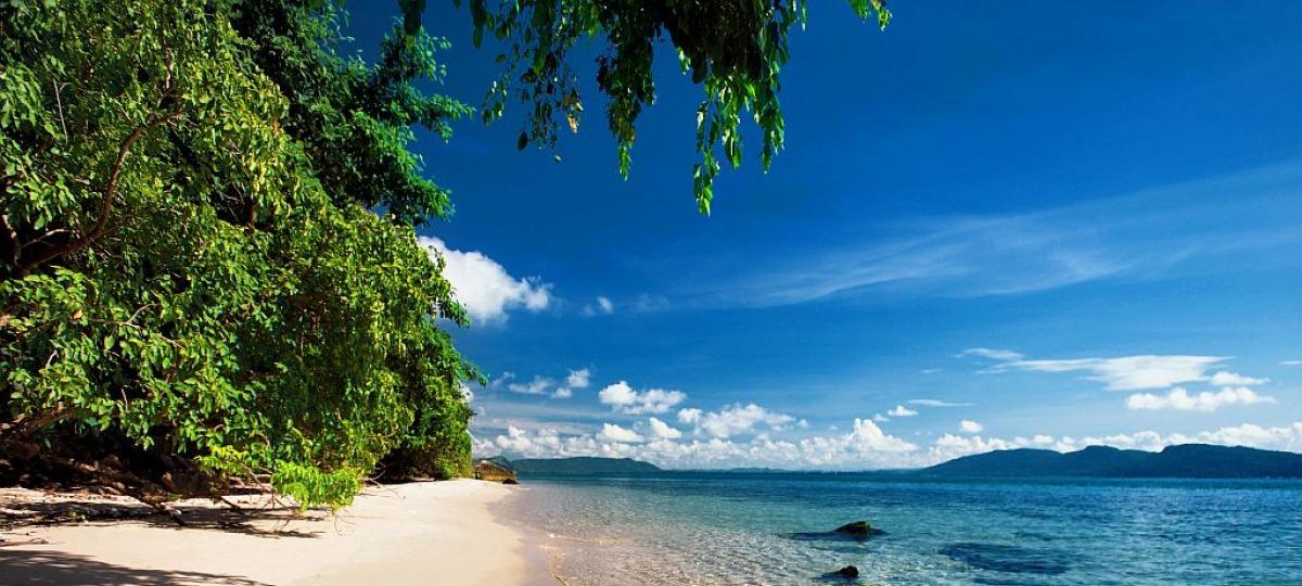 Der wunderschöne Strand des Resort