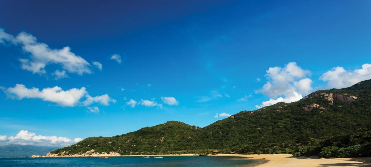 Die traumhafte Bucht des Six Senses Ninh Van Bay