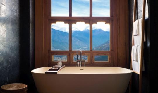 Traumhafter Blick aus dem Badezimmer
