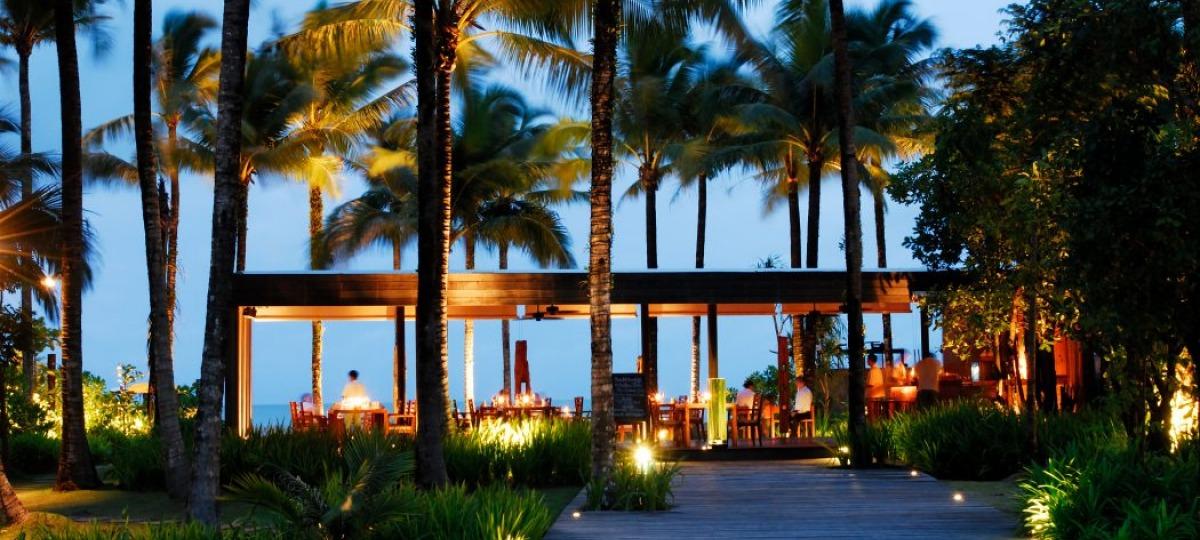 Thailaendisches Restaurant direkt am Strand