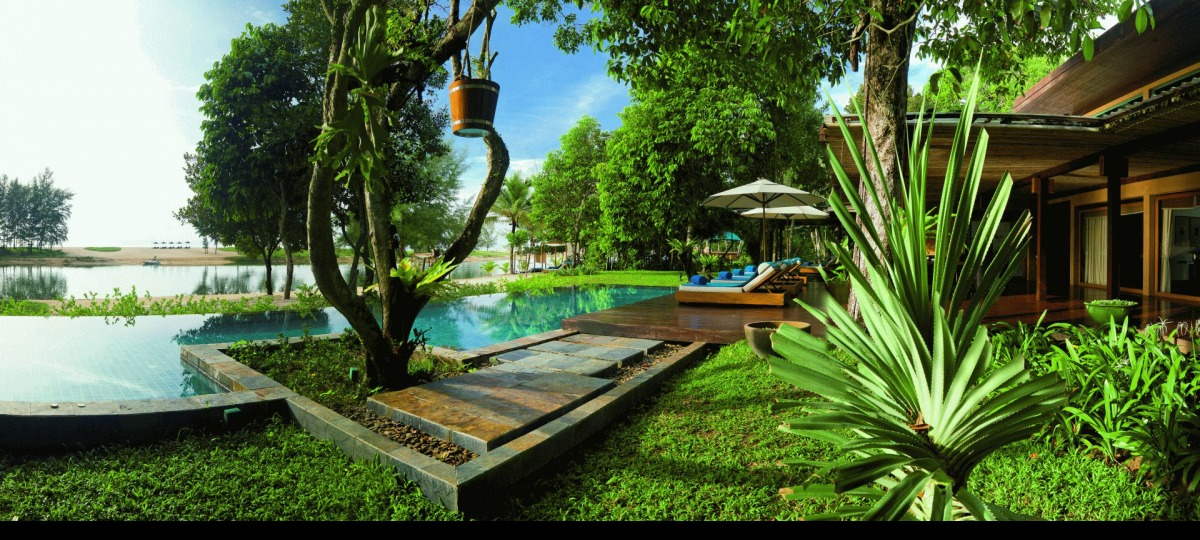 Natur pur am privaten Pool der Grand Ocean Villa