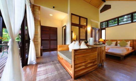 Einfach ausgestattete Zimmer
