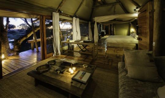 Eine der Suiten in Mombo