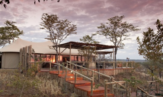 Das Elephant Camp nahe der imposanten VicFalls