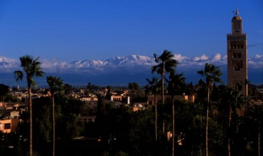 Marrakech vor beeindruckender Kulisse