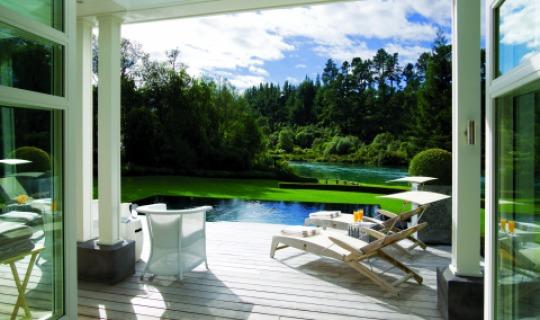 Die fantastische Huka Lodge