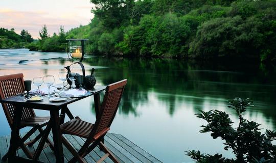 Ein Platz zum Entspannen in der Huka Lodge