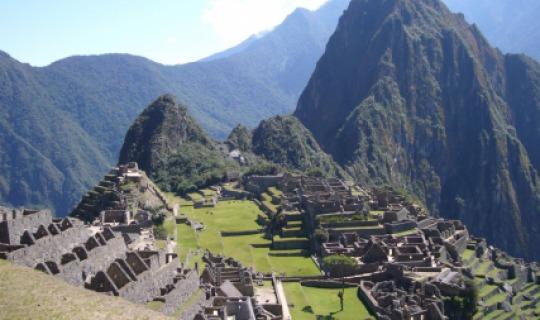 Die Inkaruinen Machu Piccu