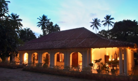 Abendstimmung im Kandy House
