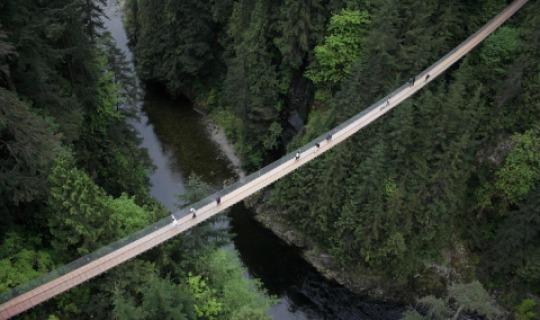 Nur was für schwindelfreie- die Capilano Hängebrücke