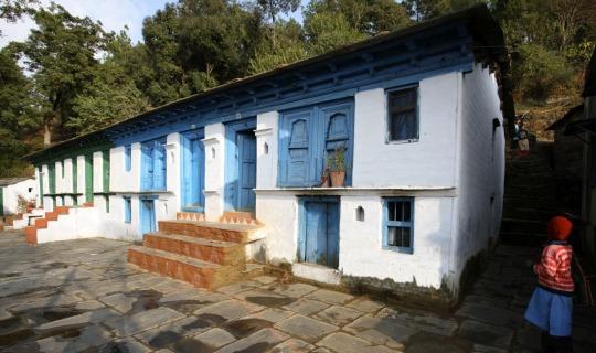 Ein traditionelles Dorfhaus