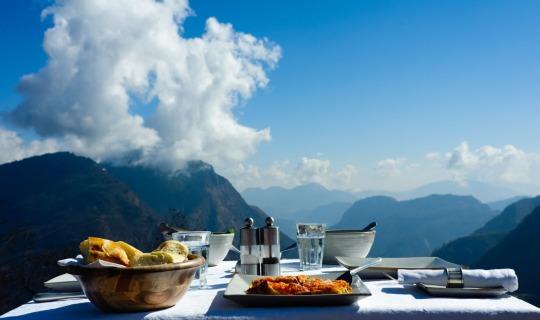 Frühstück in luftigen Höhen